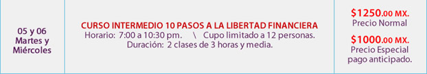 curso nivel intermedio 10 pasos a la libertad financiera